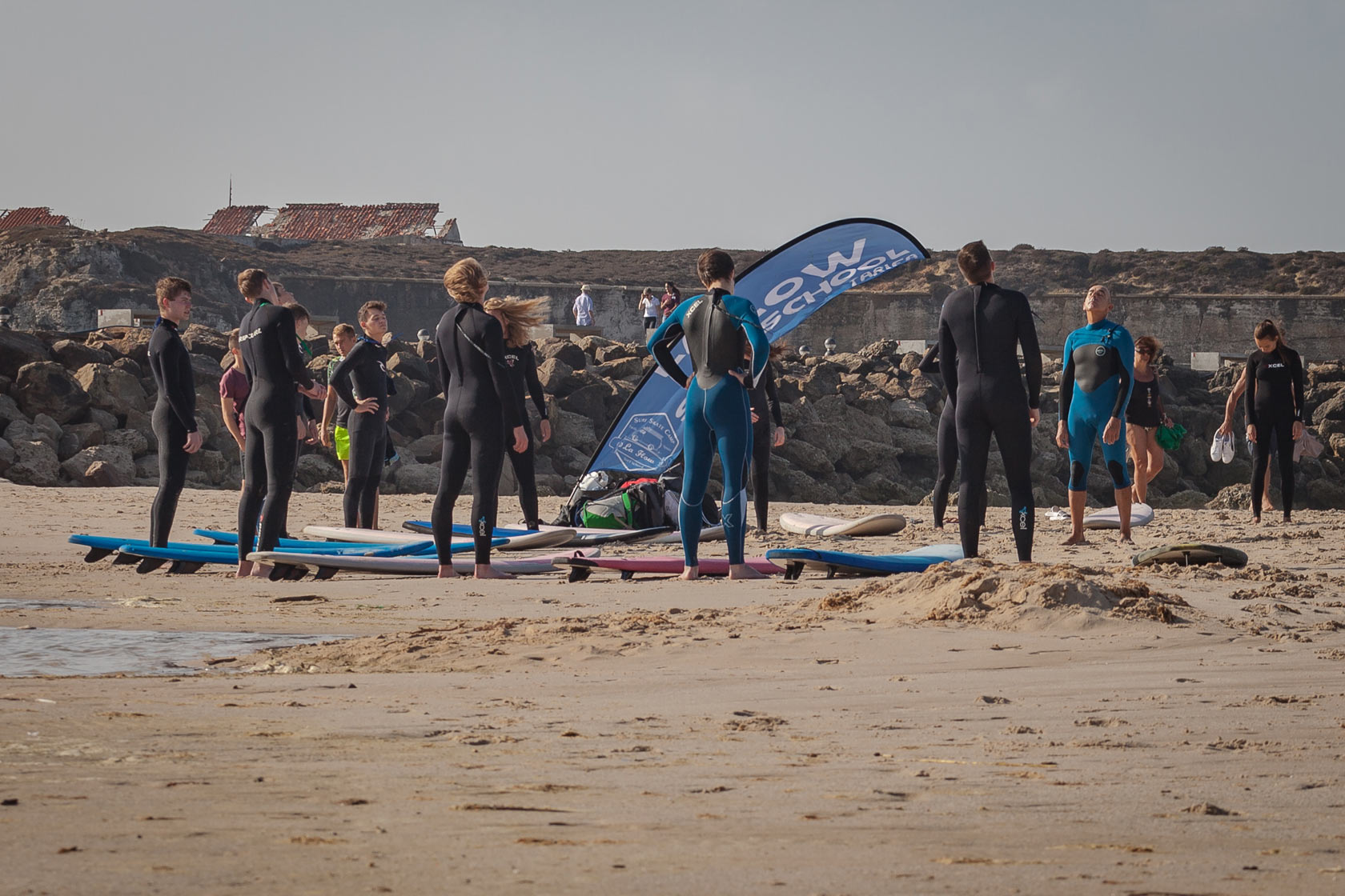 Group Surfing Teambuilding